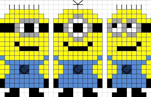 Minions perler bead pattern | DESPICABLE ME | Pinterest | Minions ...