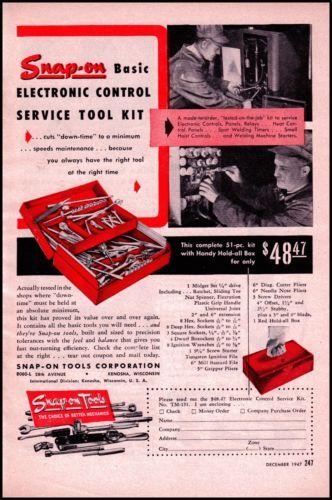 1947 snap on tools original vintage print ad old hardware ad art ebay vintage household ads. Black Bedroom Furniture Sets. Home Design Ideas