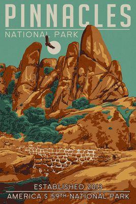 Pinnacles National Park - Lantern Press #sanbenitocounty
