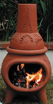 Clay Chimenea Vonkaj Ie Ohnisko Oven Stove Fireplace