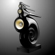 Bowers and Wilkins NAUTILUS Uber High End Speaker. Powerful sound radiating out the shape of a shell.