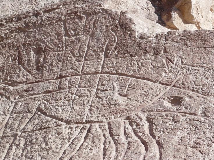 Petroglifos en cuenca del río Loa, Atacama.Chile