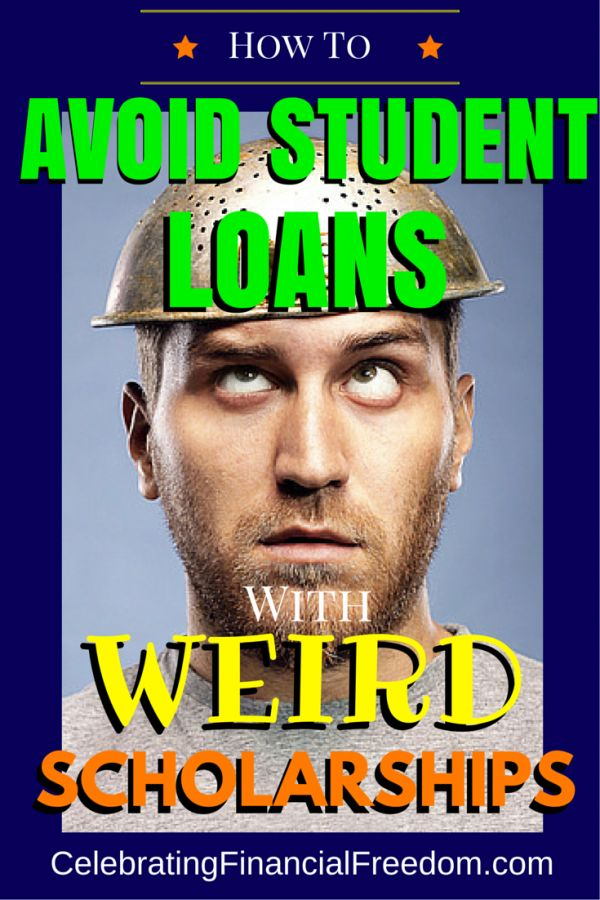How to Avoid Student Loan Debt With Weird Scholarships- Student loan debt is a huge problem. Find weird scholarships to fund college |weird scholarships