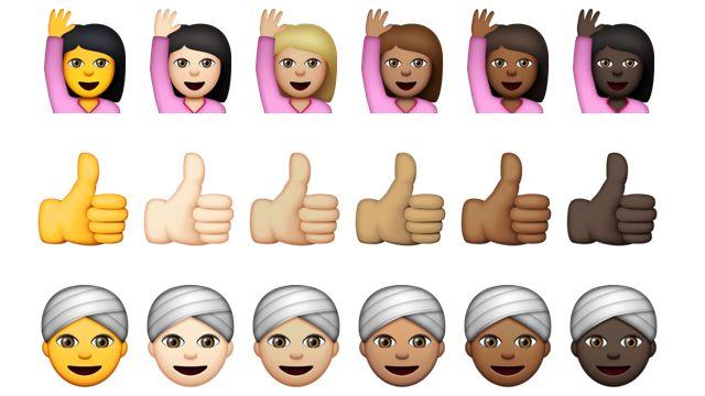 Emoji met diverse huidskleuren in iOS 8.3 en OS X 10.10.3