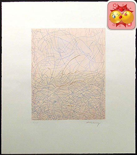 Original etching from famed abstract expressionist artist Mark Tobey. Hand signed by the artist in pencil. #Paper Size: 23 x 20, Image #Size: 14 x 11 inches. Make...