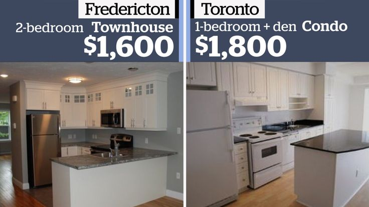 If you are forking out $1,800 for a one-bed condo apartment in Toronto — a touch over what the Toronto Real Estate Board says is the average monthly rent — you may find your dollar goes further elsewhere in the country. In some instances, a lot further.