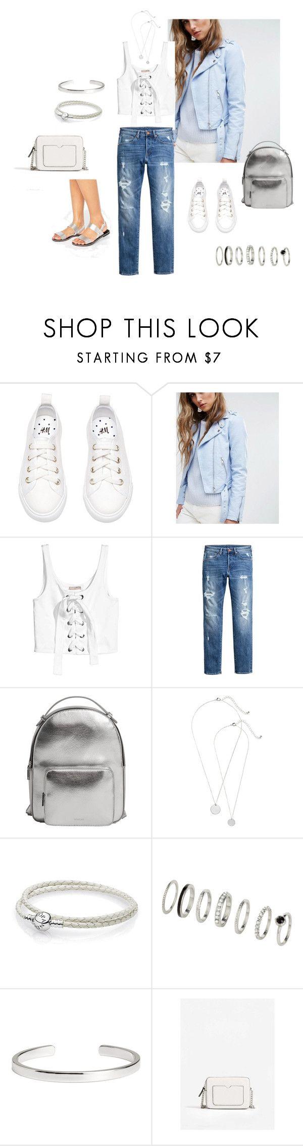 2-1 by tatiana-saksonova on Polyvore featuring мода, Pimkie, Park Lane, MANGO, H&M and Pandora
