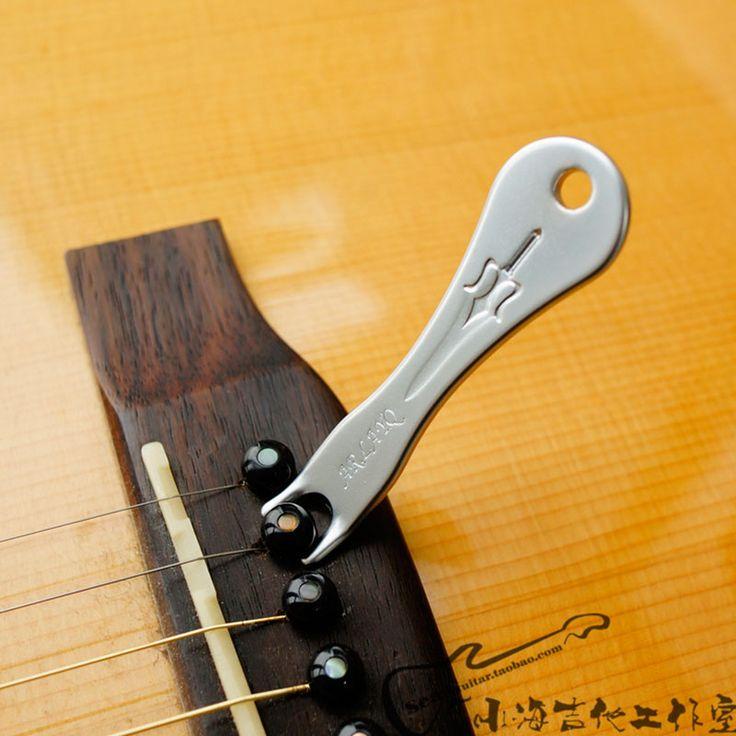 Akustik Gitar Ukulele String Menarik Peg Penarik Bridge Pin Remover Alat