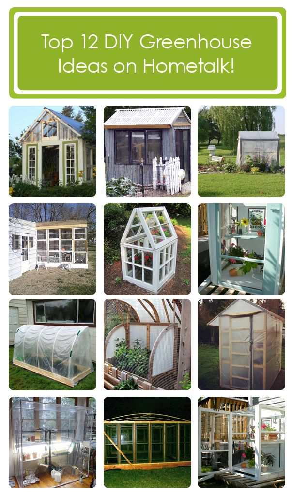Top 12 greenhouse ideas on Hometalk! ---> http://www.hometalk.com/b/617517/make-your-own-greenhouse
