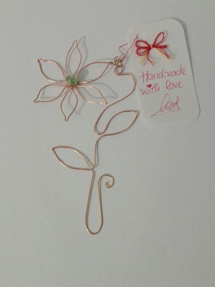0.8mm copper wire flower bookmark. Handmade with love. ❤