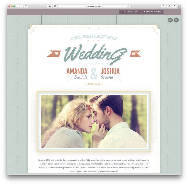 'Alice' wedding website theme at eWedding.com