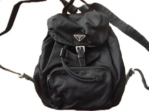 """""""i like my sketchers, but i love my prada backpack"""" """"i love my sketchers"""" """"that's because you don't have a prada backpack"""" '90s Prada Backpack"""