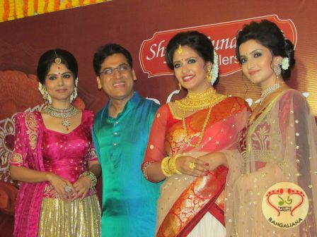 Shyam Sundar Co Jewellers' festive collection of diamond and Kundan Meena Dhanteras Dazzle was unveiled by Rupak Saha, Priyanka Sarkar and others.