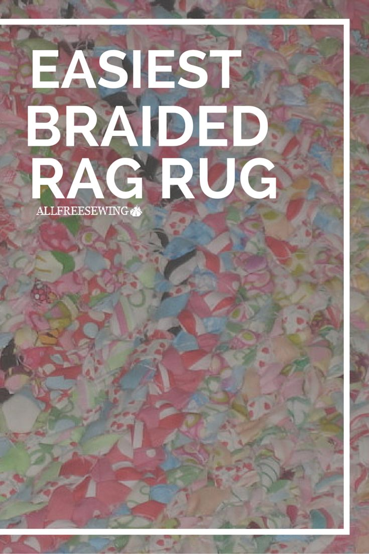 The Easiest Braided Rag Rug - Make a bright and colorful DIY rag rug in a flash with this rag rug tutorial.