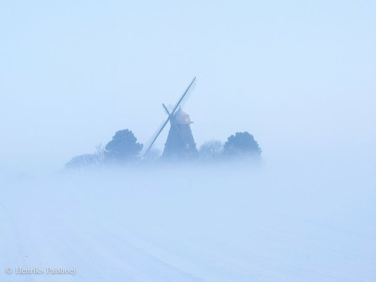 Winter at the old mill by Henrik Palshøj on 500px