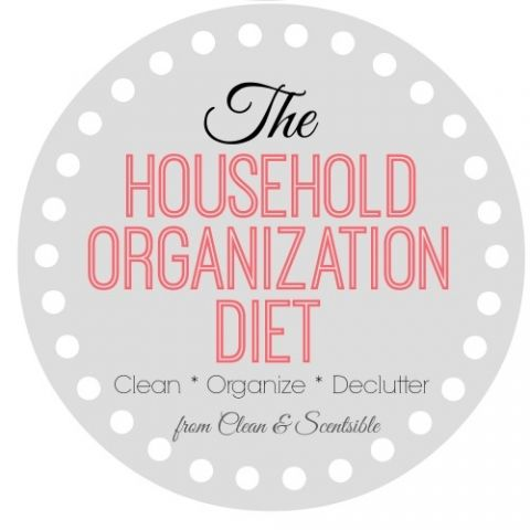 The Household Organization Diet is back!! Follow this year long plan to put your home on a diet and get things organized once and for all! // cleanandscentsible.com