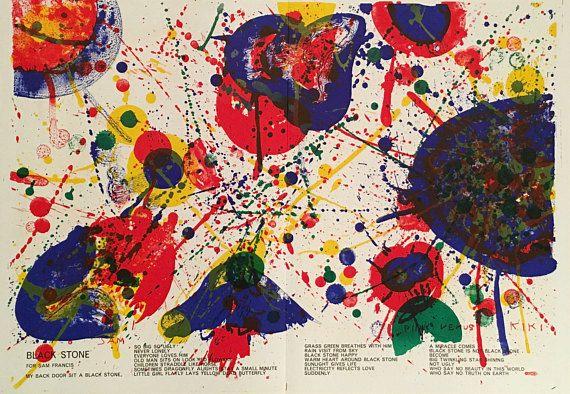 Sam Francis Rare Original 1964 Limited Edition Lithograph from