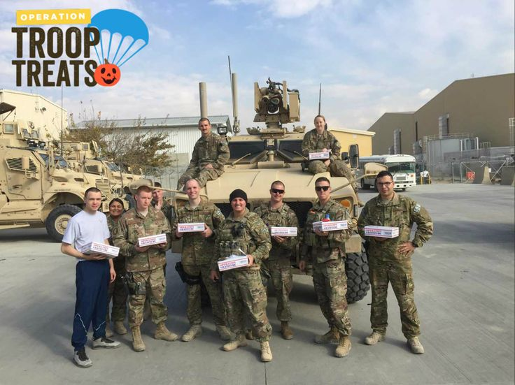 Cavities are scary! Spare your teeth from all the sugary Halloween sweets and trade your candy for a toy instead! We'll send those sweets to deployed U.S. troops via Operation Gratitude. #OpTroopTreats