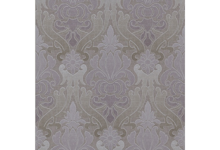 This would make a great accent wall, with Benjamin Moore Silvery Moon or Ralph Lauren Silver Bell on the other walls, with grey carpeting. One Kings Lane - On the Wall - Contemporary Damask, Mauve & Sage