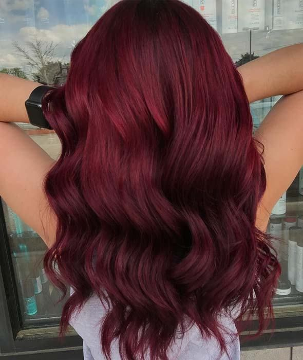 10 Burgundy Hair Color Ideas And Styles For 2019 Burgundyhair Wavyhair Longhair Hairtrends Hair Color Burgundy Wine Hair Burgundy Red Hair