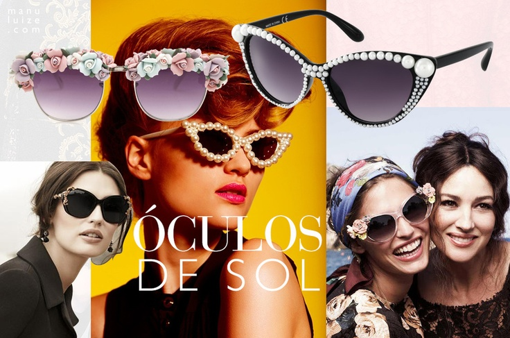 Óculos de Sol: O maximalismo toma conta dos óculos | Maxi sunglasses inspired by baroque fashion shows