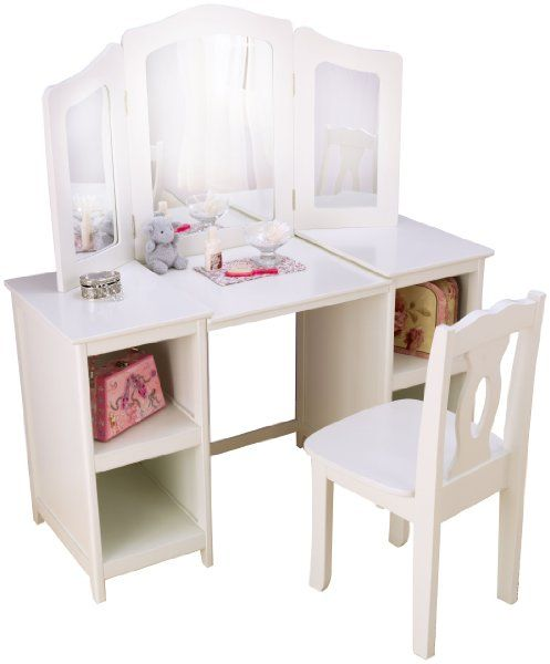 Exceptional KidKraft 13018 Deluxe Vanity U0026 Chair   KidKraft 13018 Deluxe Vanity U0026 Chair  Every Young Girl Needs Her Very Own Vanity. The KidKraft 13018 Deluxe Vanity  ...