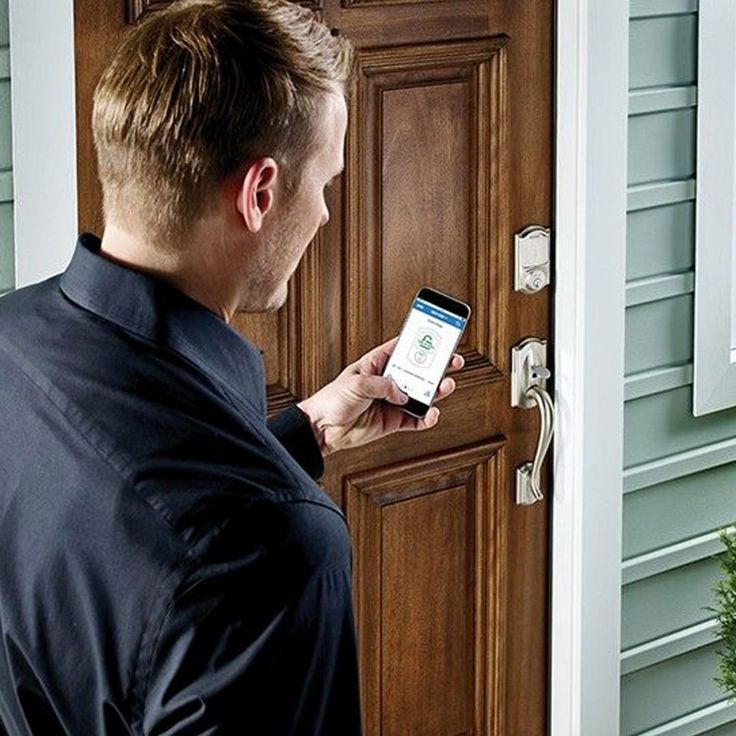Designed with built-in Apple HomeKit technology the Schlage Sense Door Deadlock allows you to unlock and lock your front door from your iPhone by an app or simply asking Siri. It also includes a touchpad and manual traditional key as a backup.