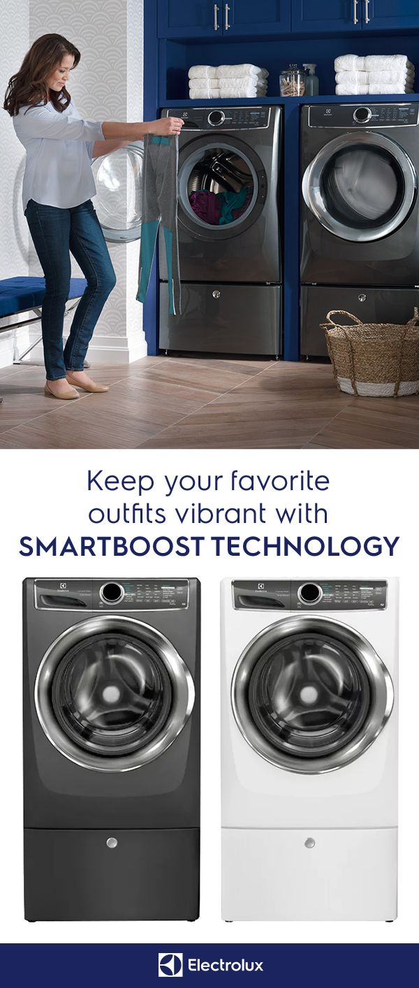When you dress boldly, you want your colors to stay that way. SmartBoost technology from Electrolux will keep your favorite outfits vibrant. Get your own today and discover the true stain-removing power of SmartBoost technology.