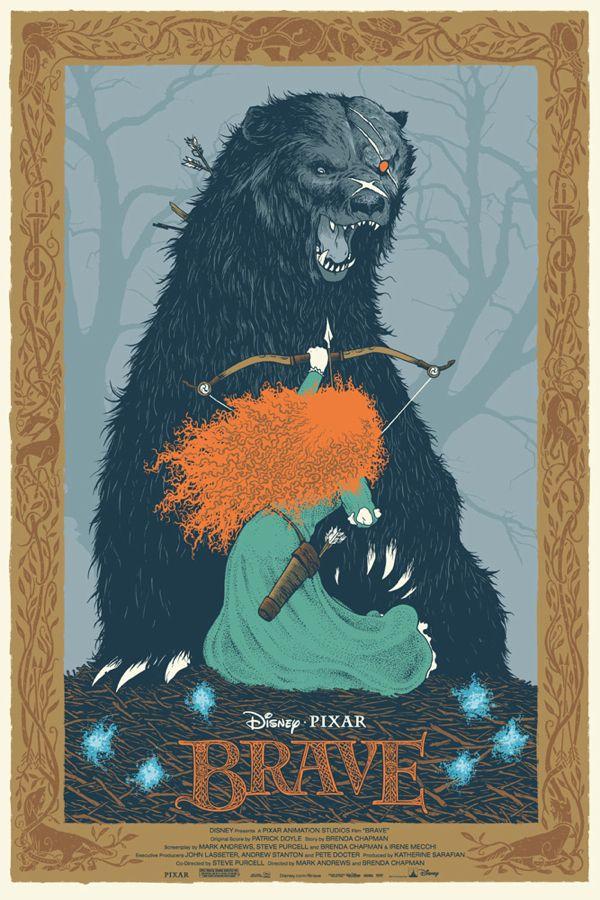 Mondo's 2013 Oscar Posters - BRAVE (by Dave Petersen)