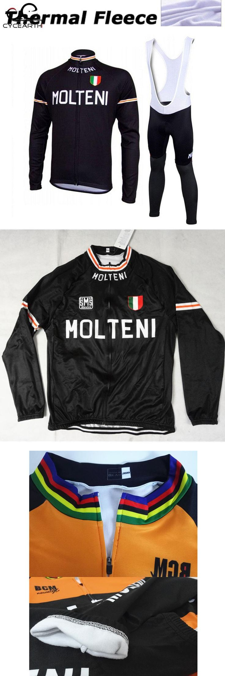 [Visit to Buy] Molteni Winter cycling clothing ropa ciclismo thermal Long sleeves maillot cycling jersey warm hombre bicicleta bike mtb #447 #Advertisement
