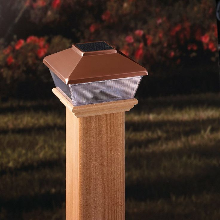 Maine Ornamental 4-in x 4-in Copper Plastic and Wood Solar Post Cap