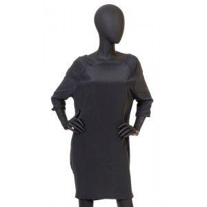 Patrizia Pepe - jedwabna szara sukienka
