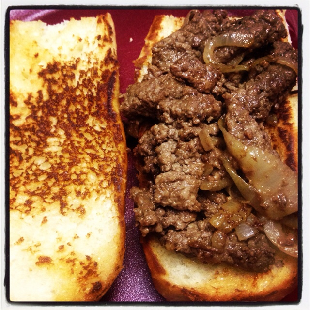 Pioneer Woman Cubed Steak Sandwiches...This recipe was awesome!  This will definitely get made agian in our house!  Unfortunately, this pin does not take you to the recipe but if you google Pioneer Woman Cubed Steak Sandwich Recipe it should take you to it.