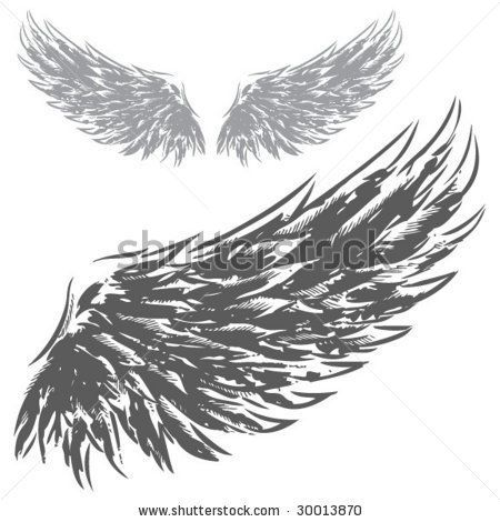 Drawn Eagles, White Tattoo, Google Search, Eagles Wings Tattoo, Wings Drawing, Hands Drawn, Birds Feathers, Josh Tattoo, Ravens Wings