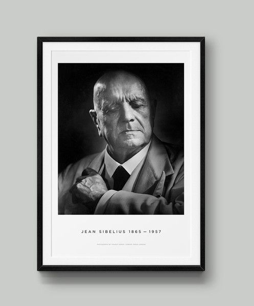 This is a limited-edition poster print of Yousuf Karsh's famous portrait of Jean Sibelius, now available for purchase. Works by Yousuf Karsh are rarely available in this format; this portrait of Jean Sibelius is rarely licensed.