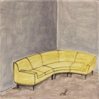 Curved sofa, 2003 | Ceramic tile | Noel McKenna
