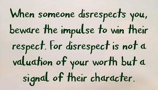 Disrespect... | Melissa Wright | Pulse | LinkedIn