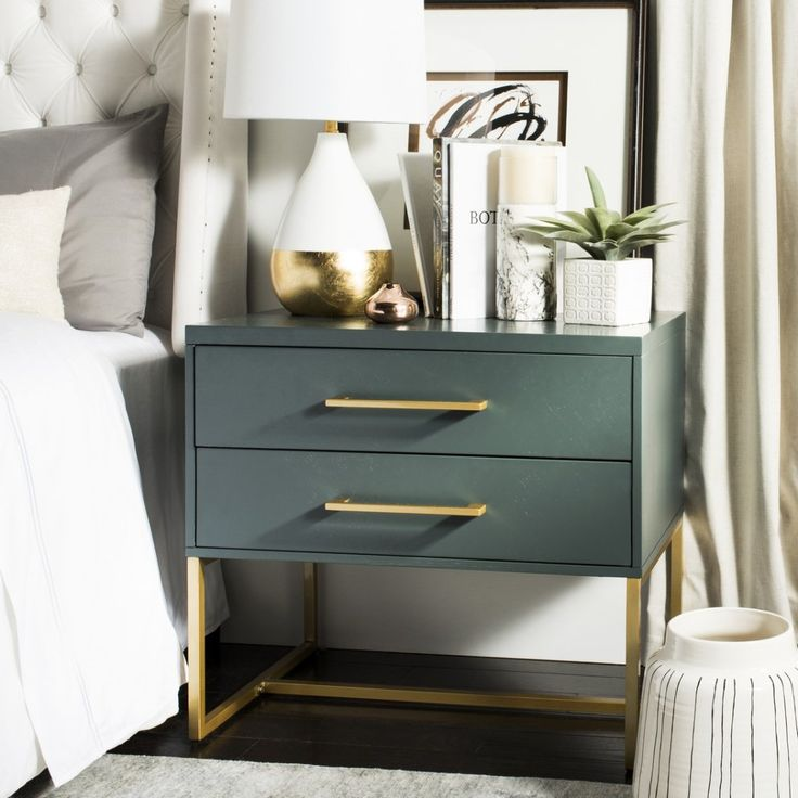 Amazing Alive With Natural Beauty And A Dynamic Modern Pattern, This Contemporary  Nightstand Brings élan To Any Bedroom. Designed With A Teal Finish And  Substantial ... Amazing Ideas