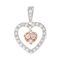 Blush Heart-Shaped Pendant with White and Pink Diamonds #AVeryMerryChristmas There is no special meaning behind the reason why I would like to own this pendant. The only reason is that it is simply stunning and I love it!!