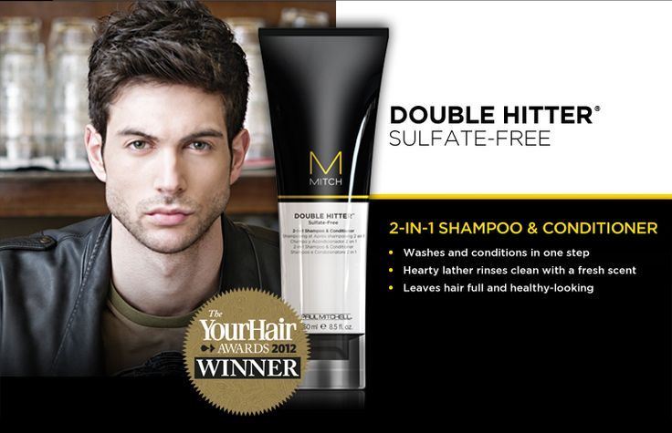 Double Hitter  Sulfate Free  2 in 1 Shampoo and Conditioner      Image detail for -MITCH by Paul Mitchell®