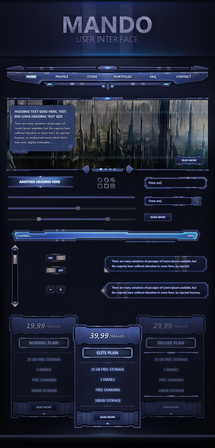 Mando UI Version 2 by VengeanceMK1.deviantart.com on @DeviantArt