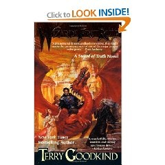 Wizards First Rule, the first book in the Sword of Truth series. Fantastic read