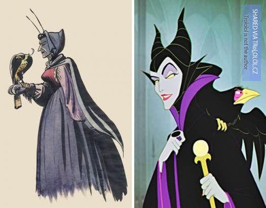 Původní kreslené návrhy Disney postaviček-Maleficent-Spící kráska