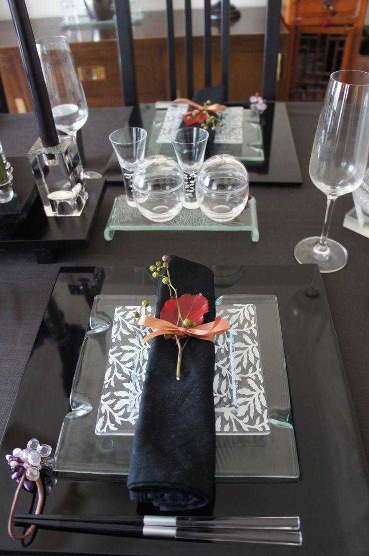 2012秋おもてなしのテーブルコーディネイト☆~紫×黒 和モダン~ |Soleil* Styling diary|Ameba (アメーバ)