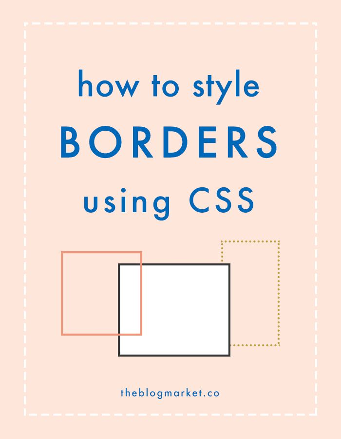 Styling Borders with CSS | Website Coding | Web Design | Blogging Business | Online Education