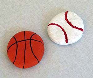 Salt Dough Sports Magnets Craft: Crafts for Kids - KinderArt