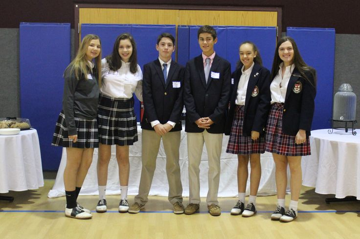 SMS Alumni come back to help during our Open House @ St. Monica Catholic School - Thank you.  You make us proud.
