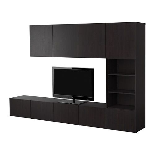 best storage combination ikea combine closed and open storage with a pull out shelf for laptops. Black Bedroom Furniture Sets. Home Design Ideas