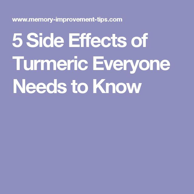 5 Side Effects of Turmeric Everyone Needs to Know
