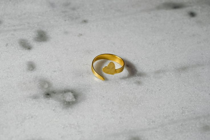 Handmade/bronze/gold-plated/24 carats/hammered/heart by CrownedCharm on Etsy